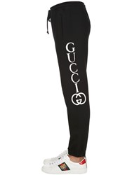 Gucci Logo Printed Cotton Sweatpants Black Ivory