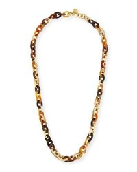 Ashley Pittman Meli Mixed Horn Link Necklace Brown