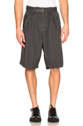Sacai Overdyed Shorts In Gray