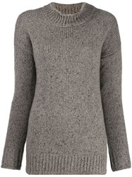 Liska Speckled Knit Jumper Neutrals