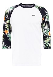 Vans Decay Palm Long Sleeved Top White Black