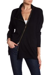 Research And Design Asymmetrical Zip Sweater Black