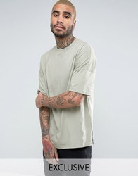 Mennace Extreme Drop Shoulder T Shirt In Mint Mint Green