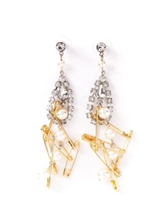 Tom Binns 'Punk Chic' Pearl Earrings Metallic