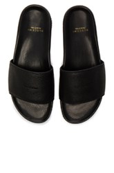 Buscemi Leather Classic Slide Sandals In Black