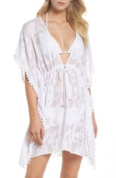 Lilly Pulitzer Gardenia Cover Up Resort White Poly Crepe Swirl