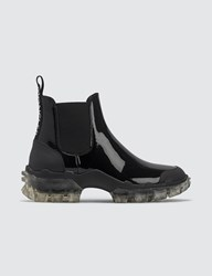 Moncler Tread Leather Chelsea Boots Black