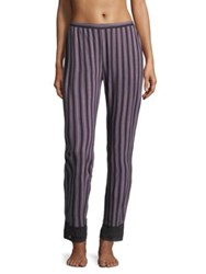 Saks Fifth Avenue Lori Striped Pants Stripe Graphite