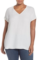 Sejour Plus Size Women's Gathered Back Top Ivory Cloud