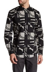 Antony Morato Printed Long Sleeve Slim Fit Shirt Green