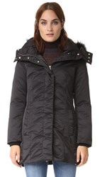 Add Down Parka With Fur Black