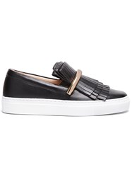 Swear 'Amy1' Fringed Slip On Sneakers Black