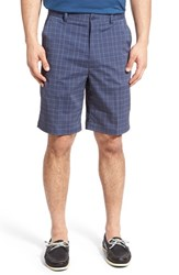 Lone Cypress Pebble Beach Men's Plaid Moisture Wicking Golf Shorts Peacoat