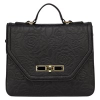 Coast Rosie Textured Shoulder Bag Black