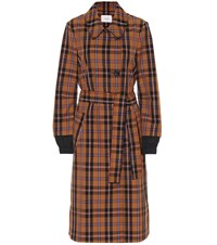 Dorothee Schumacher Checked Trench Coat Multicoloured