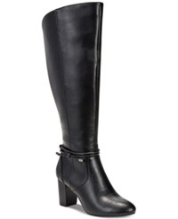 Alfani Step 'N Flex Giliann Wide Calf Dress Boots Created For Macy's Women's Shoes Black