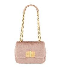 Tom Ford Medium Faux Fur Natalia Shoulder Bag Pink