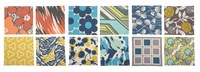 Thomas Paul Patterned Cocktail Napkins Multi Set Of 12 Various