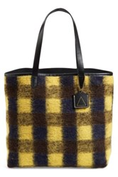 Kelsi Dagger 'Commuter' Plaid Flannel Tote Yellow