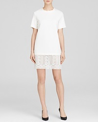 Generation Love Dress Tribal Lace Hem Scuba White