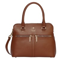 Modalu Pippa Small Leather Grab Bag Walnut