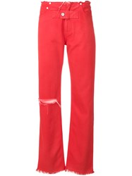 Alyx Wide Leg Trousers Red