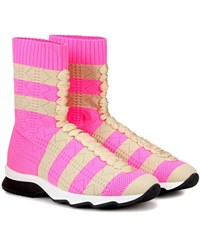 Fendi High Top Sneakers Pink