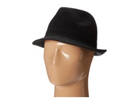 Stacy Adams Knit Fedora With Embroidered Griffen Emblem On The Band Black Fedora Hats