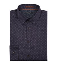 Ted Baker Jakee Printed Collar Shirt Male Blue