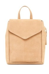 Loeffler Randall Charming Suede And Leather Backpack Beige