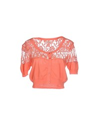 Fracomina Knitwear Wrap Cardigans Women Coral