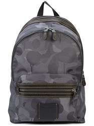 Coach Wild Beast Print Academy Backpack Grey