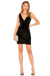 Wyldr Distractions Velvet Mini Dress Black