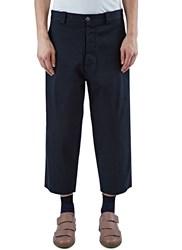 Marni Wide Leg Chino Pants Navy