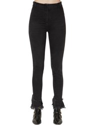 Philosophy Di Lorenzo Serafini Skinny High Waist Flared Denim Jeans Black