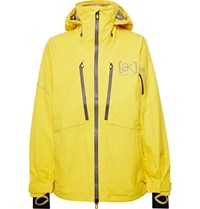 Burton Ak Gore Tex 3L Stretch Hover Hooded Ski Jacket Yellow
