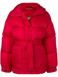 Perfect Moment Oversized Parka Jacket Red