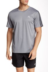 Adidas Short Sleeve Logo Tee Gray