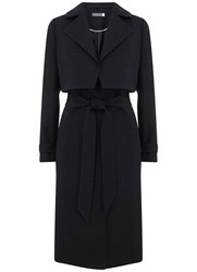 Mint Velvet Navy 3 In 1 Trench Coat Blue