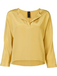 Zero Maria Cornejo Willa Blouse Yellow Orange