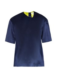 Thomas Tait Box Fit Silk Satin T Shirt