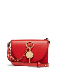 Jw Anderson Nano Keyts Leather Cross Body Bag Red