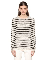 John Varvatos Stripe Wool Knit Sweater