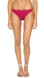 Herve Leger Karla Bikini Bottoms Dark Crimson