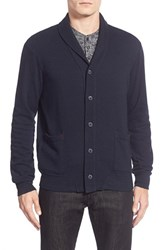 Men's Velvet By Graham And Spencer Shawl Collar Button Front Cardigan
