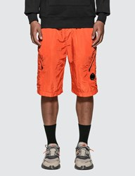 C.P. Company Cp Chrome Lens Pocket Shorts Orange