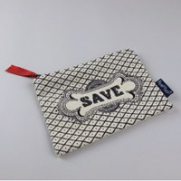 Chase And Wonder Save Canvas Zip Purse