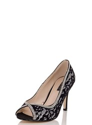 Dorothy Perkins Quiz Black And White Lace Court Shoes