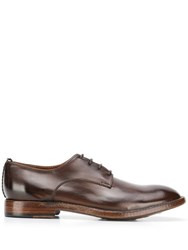 Silvano Sassetti Polished Lace Up Shoes Brown