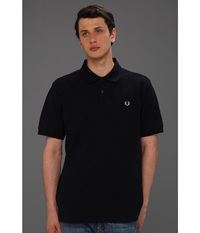 Fred Perry Solid Polo Navy White Men's Short Sleeve Knit Blue